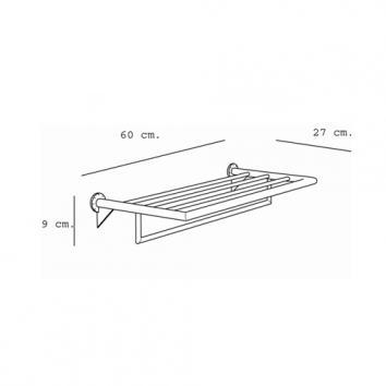 ARGENT4130 33.51.10.002 Pomd'or Towel Rack Accessories Spec sheet