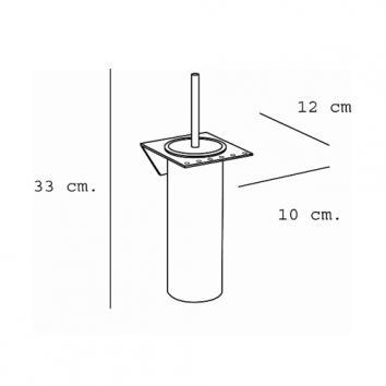 ARGENT4205 36.90.02.002 Pomd'or Toilet Brush Holder Accessories Spec sheet