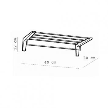 ARGENT4425 37.51.10.002 Pomd'or Towel Rack Accessories Spec sheet