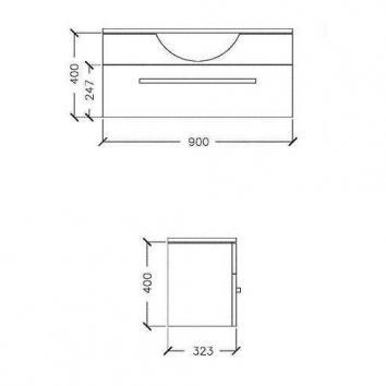 ARGENT4905 Z20SW0901SB Argent Wall Hung Vanities Furniture Spec sheet