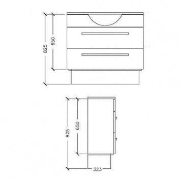 ARGENT4910 Z20SF0901SB Argent Wall Hung Vanities Furniture Spec sheet