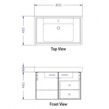 ARGENT5045 C10SW0801 Argent Wall Hung Vanities Furniture Spec sheet