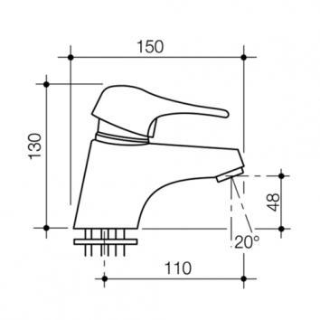 CAROMATAP2700 90947C5A Caroma Mixers Tapware Spec sheet