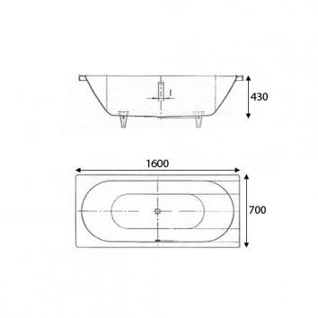 KALDEWEI6001 01-103-A6 Kaldewei Rectangular Baths Spec sheet