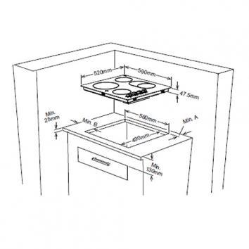 OMEGA2064 OC64KZ Omega Electric Cooktops Spec sheet