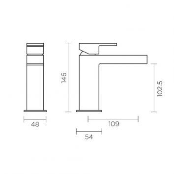 GRP-ROGERSELLER-0048 329410 Fantini Mixers Tapware Spec sheet