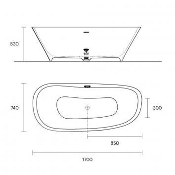 ROGERSEL23915 652350 Falper Freestanding Baths Spec sheet