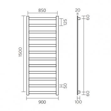 ROGERSEL52065 435306 Rogerseller Heated Towel Rail Accessories Spec sheet