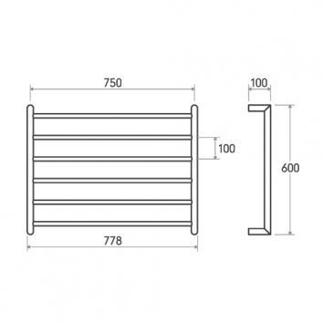 AVENIR3845 TLH1-60x75 Avenir Heated Towel Rail Accessories Spec sheet