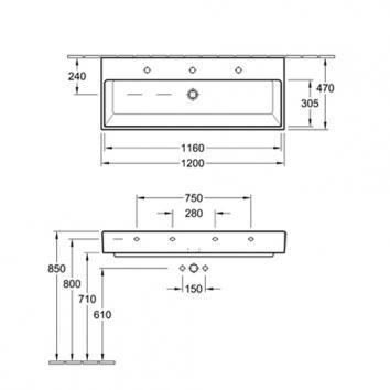 V&B1402 5133CG01SDCCB Villeroy & Boch  Basins Spec sheet
