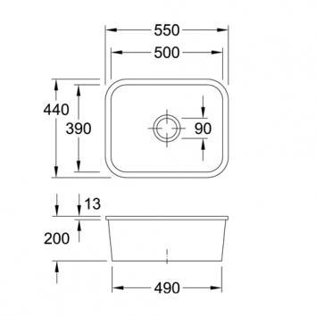 V&B6000 670601R1CB Villeroy & Boch Undermount Sinks Spec sheet