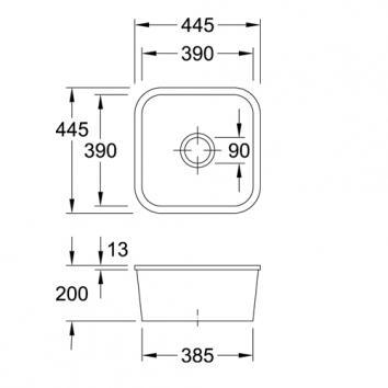V&B6005 670301R1CB Villeroy & Boch Undermount Sinks Spec sheet