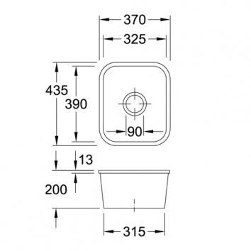 V&B6010 670401R1CB Villeroy & Boch Undermount Sinks Spec sheet