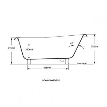 VICTORIA0400 ROX-N-SW+FT-ROX-SW Victoria + Albert Freestanding Baths Spec sheet