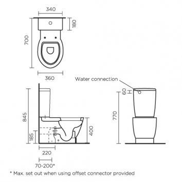VITRA52061 114860 Vitra Wall Faced Toilets Spec sheet