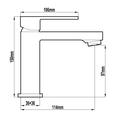 HARMTAP10110 81105-25 Harmony Mixers Tapware Spec sheet